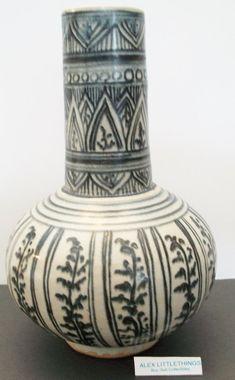 Ethnic print ceramic vase by ALEXLITTLETHINGS on Etsy, $9.99