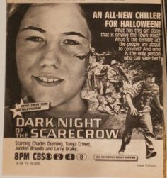 print ad for dark night of the scarecrow