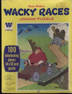 Wacky Races Puzzle by Whitman, 1970