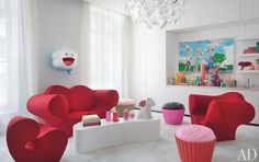 cupcake stools in the play room