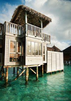 Amazing over-water villa in Maldives
