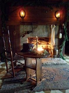 decor, primitivecoloni room, cabin, country houses, rustic fireplac, hearth, countri, cozi fireplac, christma