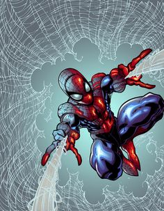 Spidey doing what Spidey does.
