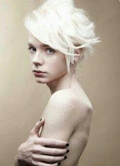 Hair. I love bleach blonde short hair.