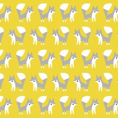 Foxes | Gold :: Fanfare by Made by Rae for Cloud9 Fabrics