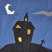 Halloween paper pieced block - via @Craftsy  FREE PATTERN