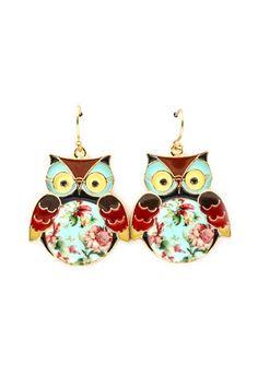 Whooos earrings are this cute?! Adorable little owl earrings.