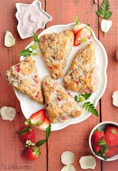 Low Fat Greek Yogurt Strawberry Scones   Delicious Cooking