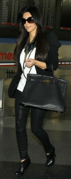Lloyd Klein  Jacket Purse – Hermes    Shoes – Yves Saint Laurent    Jacket – Lloyd Klein    Sunglasses – Tom Ford    Shirt – T by Alexander Wang    necklace – Lanvin    Pants – J Brand