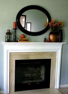 Simple fall mantle.  Nice.