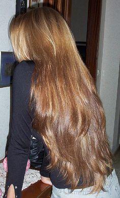 Girl with long, wavy hair.