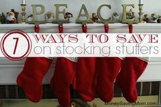7 Ways to Save on Stocking Stuffers -- check the comments on this post for even more great ideas!