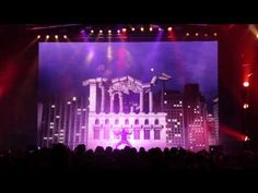 LED performance mapping show.great timing by the dancer..genius!