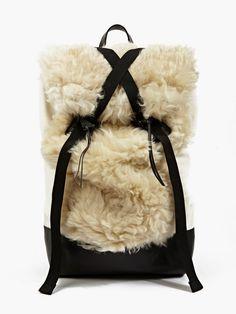 Christopher Raeburn Men's REMADE Limited Edition Sheepkin Backpack   oki-ni