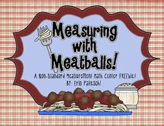 Measuring with Meatballs!   {Math Center FREEbie}
