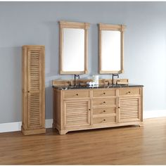 "James Martin Savannah Collection 72"" Double Bathroom Vanity, Natural Oak 238-104-5721"