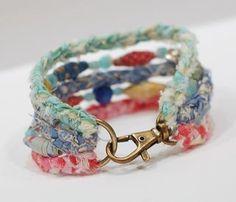 DIY:  Braided & Beaded Bracelet Tutorial - this is so cute!!!