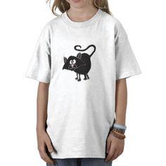 Funny Black Cat Cartoon T-shirts #cats #funny #shirt #black #pets #art #zazzle #petspower