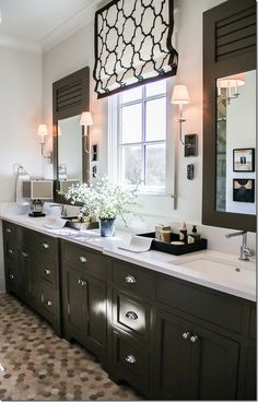 Brilliant  Bathroom Cabinets Also Large Wood Framed Bathroom Mirrors And Wall