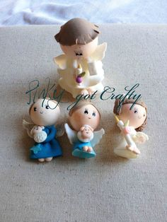Cold porcelain angels by PinkyGotCrafty