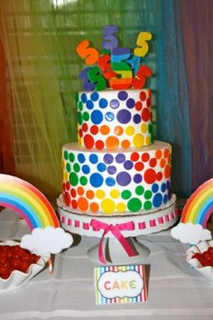 Rainbow birthday cake!