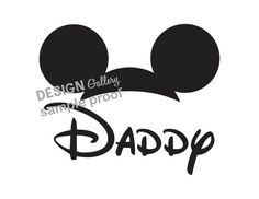 Mickey Mouse Daddy Disney DIY Printable Iron On t shirt Transfer Instant Download  Great for fathers day