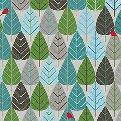 Blues leafs pattern