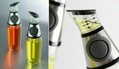 Oil container that comes with a squeeze-pump that lets it measure up to one tablespoon in just one pour.