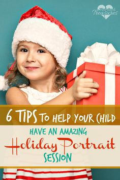 6 Tips to Help Your Child Have An Amazing Holiday Portrait Session ~ Holiday portrait sessions are a HUGE part of the holiday celebrations. Check out these tips to avoid holiday portrait meltdowns, nightmares and down right ugly photos! Make some fun memories and keep the photos to prove it! From a mom who has been there and done that!