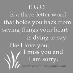 I never let ego get in the way. This is my only chance at living. I just close my eyes and jump off the scary Cliff into the water.