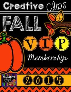 Say HELLO to your very own VIP clipart treatment for 10 weeks this fall! Starting September 1st, I am continuing my VIP Membership series after popular demand!$