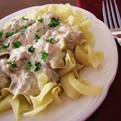 """Slow Cooker Chicken Stroganoff 