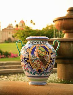 Italian pottery and Santa Barbara  -  two favorites