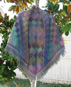 $7.50 Jojoland Entrelac Shawl Pattern - Autumn