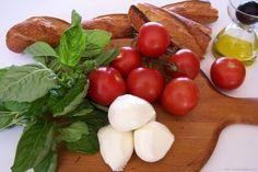Tomato, mozzarella, basil, the holy trinity of Italian food