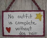 No outfit is complete without dog hair! #dogs