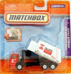 2009 Autocar ACX Garbage Truck - Red and White by MATCHBOX. $24.99. TILTING DUMPSTER. WORKING SIDE LOADER. BACK DOOR OPENS. AUTHENTIC DIE-CAST PARTS. The Real-Working assortment features trucks with moving parts, and great manipulative play that boys love!