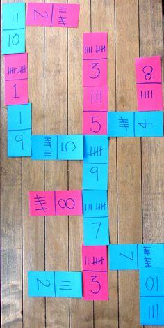 tally mark & digit dominoes