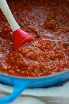 Roasted Tomato Bolognese Sauce from laurenslatest.com