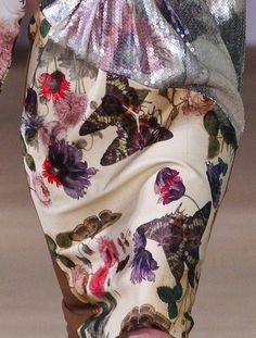 The Terrier and Lobster: Preen Fall 2012 Floral Prints Inspired by Beatrix Potter Botanical Drawings and Victorian Pressed Flower Albums