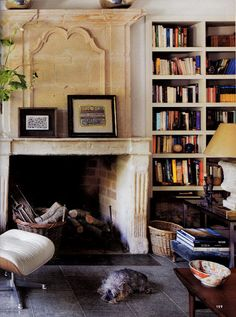 Another carved stone fireplace