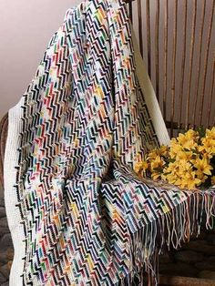 Rainbow scrap afghan - free Ravelry pattern here ~ http://www.ravelry.com/patterns/library/rainbow-scrap-afghan  #crochet #afghan #blanket #throw #scrap #stripes