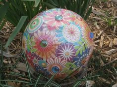 "DIY ""Wrapped"" Gazing Ball For Your Garden"