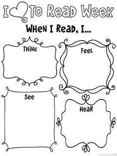 I love to read freebie