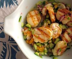Grilled Scallop Ceviche #paleo #recipe