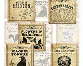 Antique Halloween Potion Labels sold on etsy