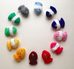 Free Amigurumi Fishy Pattern from Lily Gets Crafty #crochet