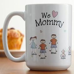 Personalized Heart Character Mug - Cute gift for Mother's Day