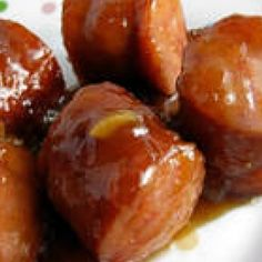 Kielbasa Appetizers Recipe  Ingredients     2 lbs kielbasa (polska)     18 ozs beer (miller lite)     18 ozs barbecue sauce (preference)     1/2 cup brown sugar     1/4 cup dijon mustard  Mix all & simmer in Crock Pot