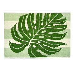 Hawaiian Print Bath Mat - Monstera